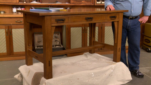 Woodworking plans mission style bed plans for wood for Craftsman style desk plans